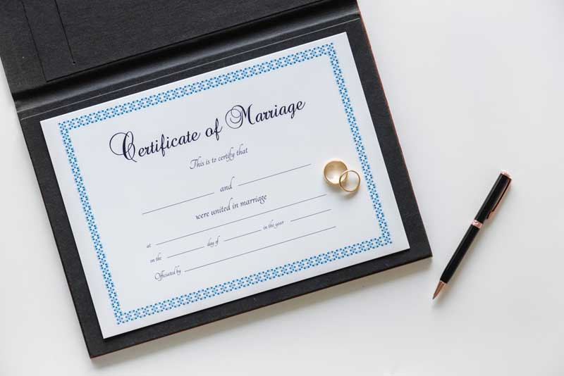 marriage certification