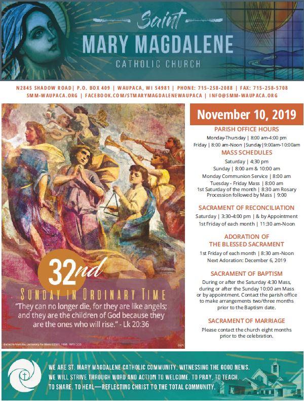 11.10.19 Bulletin